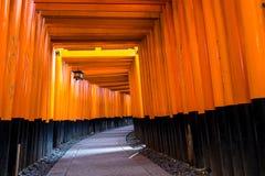 Oriëntatiepunt van het Heiligdom van Kyoto Fushimi Inari royalty-vrije stock foto's