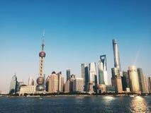 Oriëntatiepunt van Shanghai stock afbeeldingen