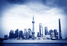 Oriëntatiepunt van Shanghai Stock Foto's