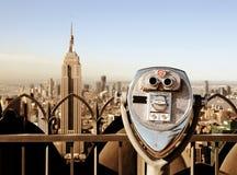Oriëntatiepunten in de Stad van New York Stock Foto's