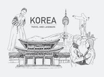 Oriëntatiepunten in Korea Stock Fotografie
