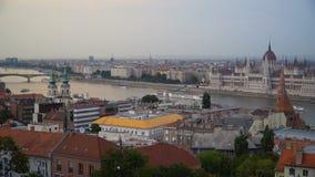 Oriëntatiepunten van Boedapest stock videobeelden