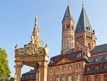 Oriëntatiepunten van Mainz Stock Foto's