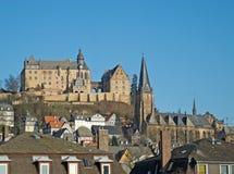 Oriëntatiepunten van Marburg Stock Fotografie