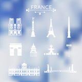 Oriëntatiepunten van Parijs Stock Afbeelding
