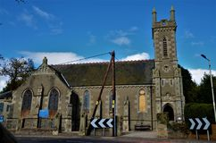 Oriëntatiepunten van Schotland - Kerk in Barry stock afbeeldingen