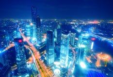 Oriëntatiepunten van Shanghai stad Royalty-vrije Stock Foto