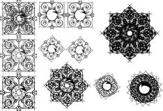 Oriënteer Abstracte Vectorpatroonontwerpen stock illustratie