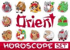 Oriënteer horoscoopreeks Stock Afbeeldingen