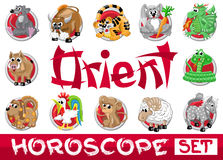 Oriënteer horoscoopreeks Royalty-vrije Stock Foto