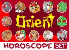 Oriënteer horoscoopreeks Royalty-vrije Stock Foto's