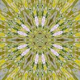 Oriënteer traditioneel geel arabesqueornament Oosters mandalamotief royalty-vrije illustratie