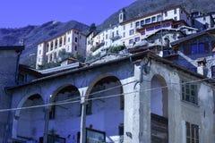 Oria by i kommunen av Valsolda, Italien Royaltyfria Foton