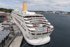 Oriana cruise ship in dock. Empty P&O cruise ship Oriana in dock as norovirus outbreak Royalty Free Stock Photos