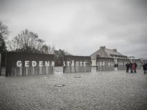 Entrance of the Sachsenhausen Concentration camp royalty free stock photos
