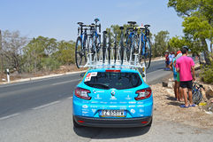 Orica greenedge In la Vuelta Easpaña Bike race Royalty Free Stock Images
