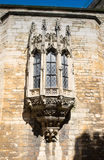 Oriel παράθυρο στο κάστρο του Λίνκολν gatehouse Στοκ Εικόνες