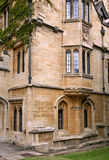 Oriel window of old college Royalty Free Stock Photos