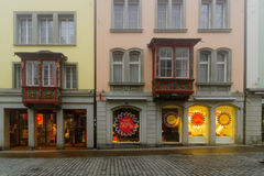 Oriel windows in St. Gallen Royalty Free Stock Images