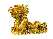 Orienatal symbol - golden dragon Stock Photo