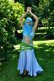 Orient. Girl in belly dance outfit Stock Photos