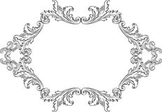 Orient acanthus art  fine vintage page. On white Royalty Free Stock Images