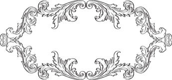 Orient acanthus art good frame Royalty Free Stock Images