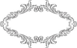 Orient acanthus fine frame. Is on white Royalty Free Stock Photo