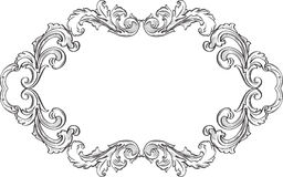 Orient acanthus fine page. Is on white Stock Photo