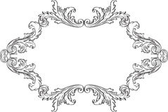 Orient acanthus frame Royalty Free Stock Photos