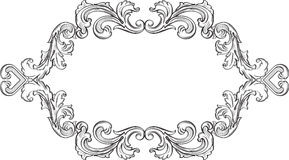 Orient acanthus vintage fine frame. Is on white Royalty Free Stock Photography
