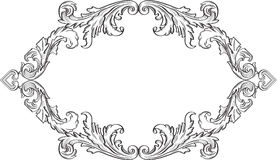 Orient acanthus vintage frame Royalty Free Stock Image