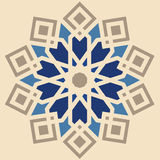 Orient arabisk texturdesign med gränser Arkivfoto