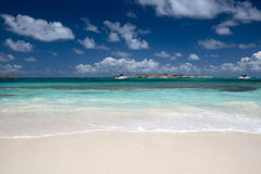 Orient Bay beach in St. Martin in the Caribbean Stock Photo