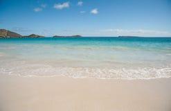 Orient Beach on Saint Martin. Prestine Orient Beach on Sanit Martin island Royalty Free Stock Photo