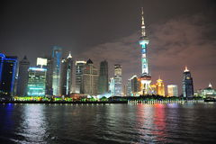 The Orient bright pearl  transmit shanghai putong Stock Photo