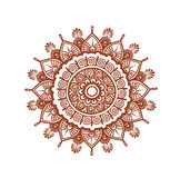 Orient circle mandala - decorative ornamental henna design. Mehendy ethnic vector Stock Photo