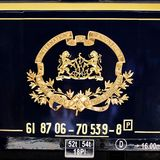 Orient Express emblem. Orient Express arrives at last stop at 14:30 pm on September 02, 2009 in Istanbul, Turkey. Legendary luxury train travels between Paris Royalty Free Stock Image
