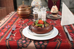 Orient food. Güvec. Turkish Special Stock Image