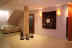 Orient interior. Modern orient interior with instruments and carpet Royalty Free Stock Photography