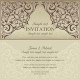 Orient invitation, brown and beige Stock Photo