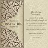 Orient invitation, brown and beige Royalty Free Stock Image