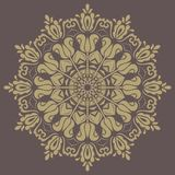 Orient  ornamental round lace Royalty Free Stock Image