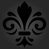 Orient Pattern With Royal Lily. Orient ornament. Dark pattern with royal lily Royalty Free Stock Photos