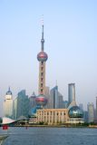 Orient Pearl Tower and Pudong. Financial District, Shanghai, China Stock Photos