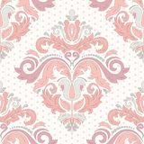 Orient Seamless Pattern. Abstract Background. Floral oriental pattern with damask, arabesque and floral elements. Seamless abstract wallpaper and background royalty free illustration