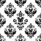 Orient Seamless Vector Pattern. Abstract. Oriental vector pattern with damask, arabesque and floral elements. Seamless abstract background Royalty Free Stock Photos