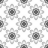 Orient Seamless Vector Pattern. Abstract. Oriental vector pattern with damask, arabesque and floral elements. Seamless abstract background Royalty Free Stock Images