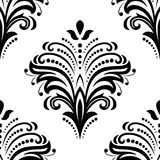 Orient Seamless Vector Pattern. Abstract. Oriental vector pattern with damask, arabesque and floral elements. Seamless abstract background Royalty Free Stock Image