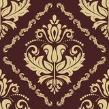 Orient Seamless Vector Pattern. Abstract. Oriental vector pattern with damask, arabesque and floral elements. Seamless abstract background Royalty Free Stock Photography